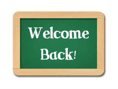 chalkboard welcome back